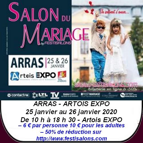 Salon du mariage et autres loisirs à Arras et ses environs;