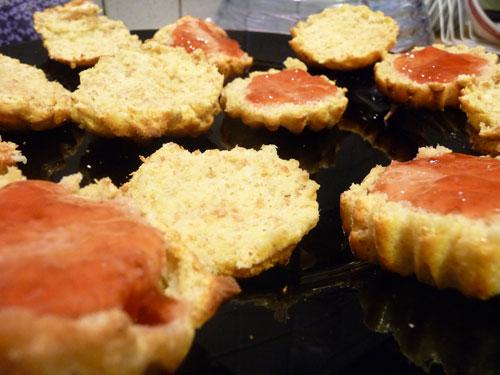 Gateaux fourrés à la gelée fruits des bois dukan