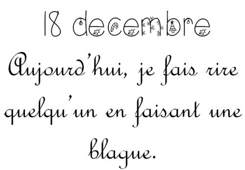 Calendrier de l'Avent 18 décembre