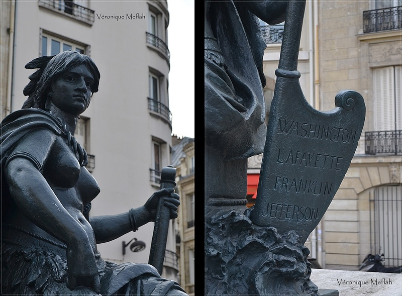 Parvis du Musée d'Orsay : les six continents : L'Amérique du Nord