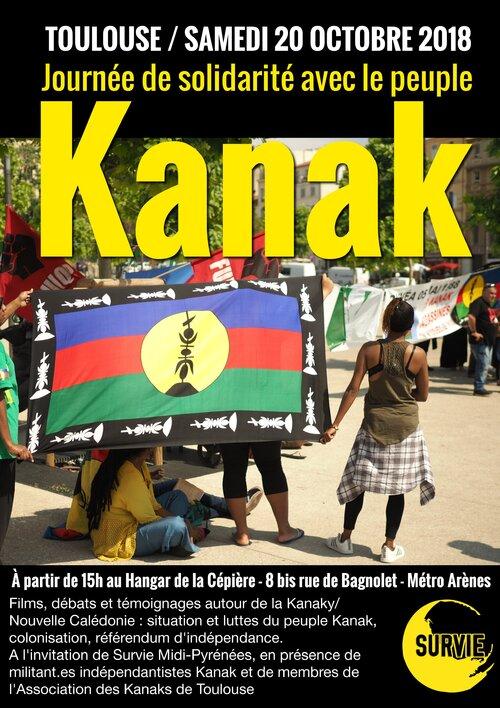 20 Octobre : Solidarité avec le peuple Kanak