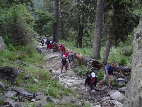 la montée vers lac de Gaube