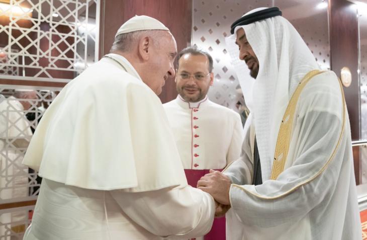Arrivée à Abou Dhabi © Vatican Media