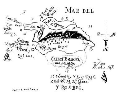 Et voici l'autre carte de Kidd qui n'avait pas été rendu public lors de sa découverte par Hubert Palmer dans les années 30. (Albert Fagioli)