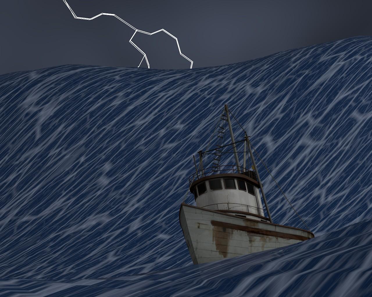 Au coeur de la temp te polygone for Dans un petit bateau