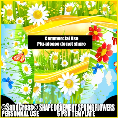 Kit template Shape ornement spring flowers