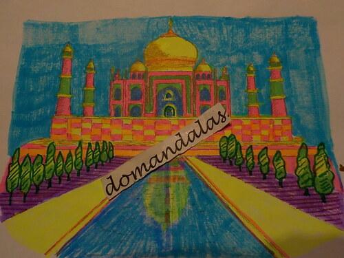 DOMANDALAS coloriage Taj Mahal