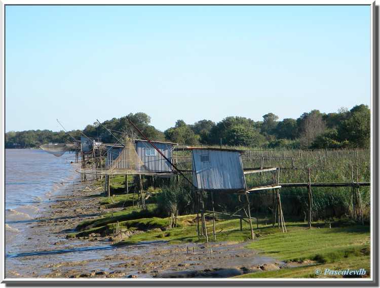 Estuaire de la Gironde et carrelets