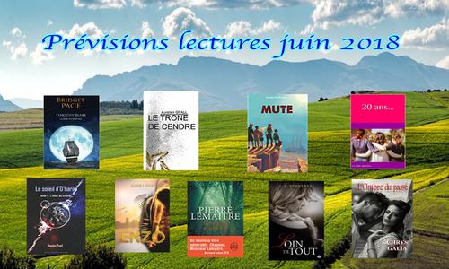 Prévisions lectures du mois de juin 2018