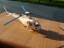 Maquette hélicoptère AS350B Ecureuil F-GCTM au 1/50