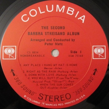 1963, The second Barbra Streisand album