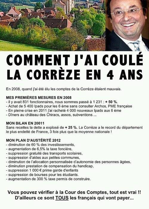 Le bilan d'Hollande en Corrèze. On peut prier pour la France...