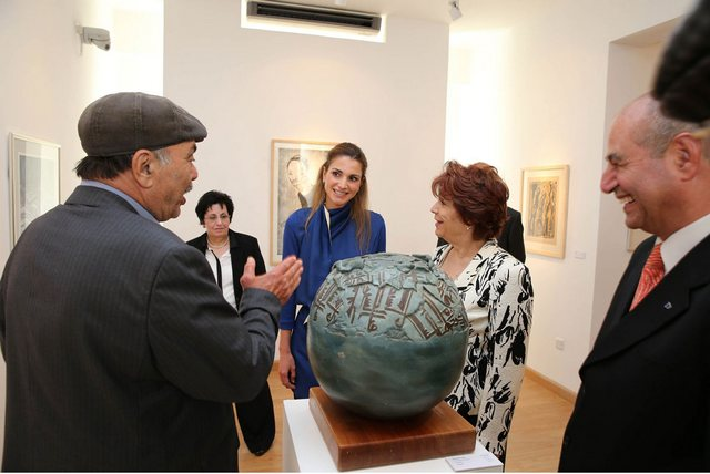 Rania et l'art moderne