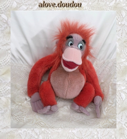 Doudou Peluche Singe Louie Disney Le Livre De La Jungle
