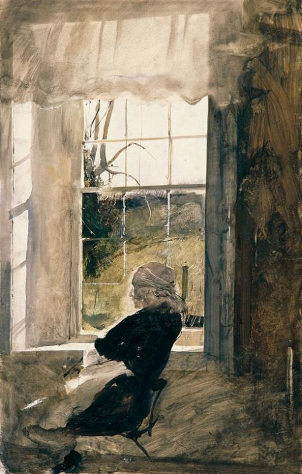 Andrew Wyeth - Groundhog Day Study, 1959