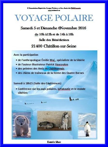 """Les Amis du châtillonnais présentent """"Voyage polaire""""..."""