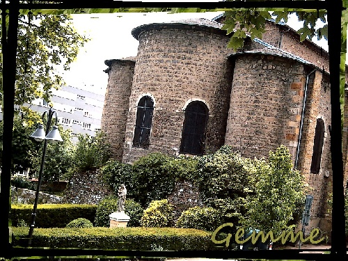 Eglise du Bourg, statue Vierge, Ste-Foy Village