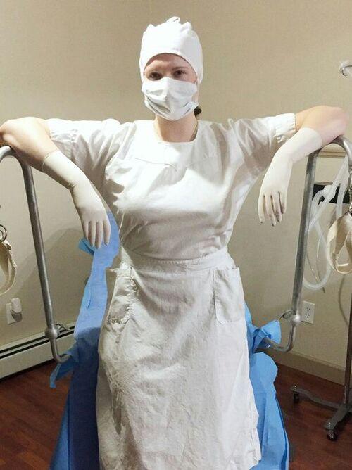 Infirmière de bloc vintage