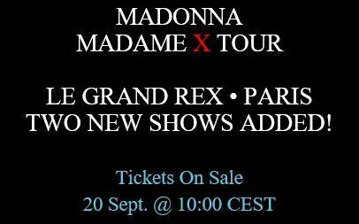 2 new Paris 'Le Grand Rex' dates added