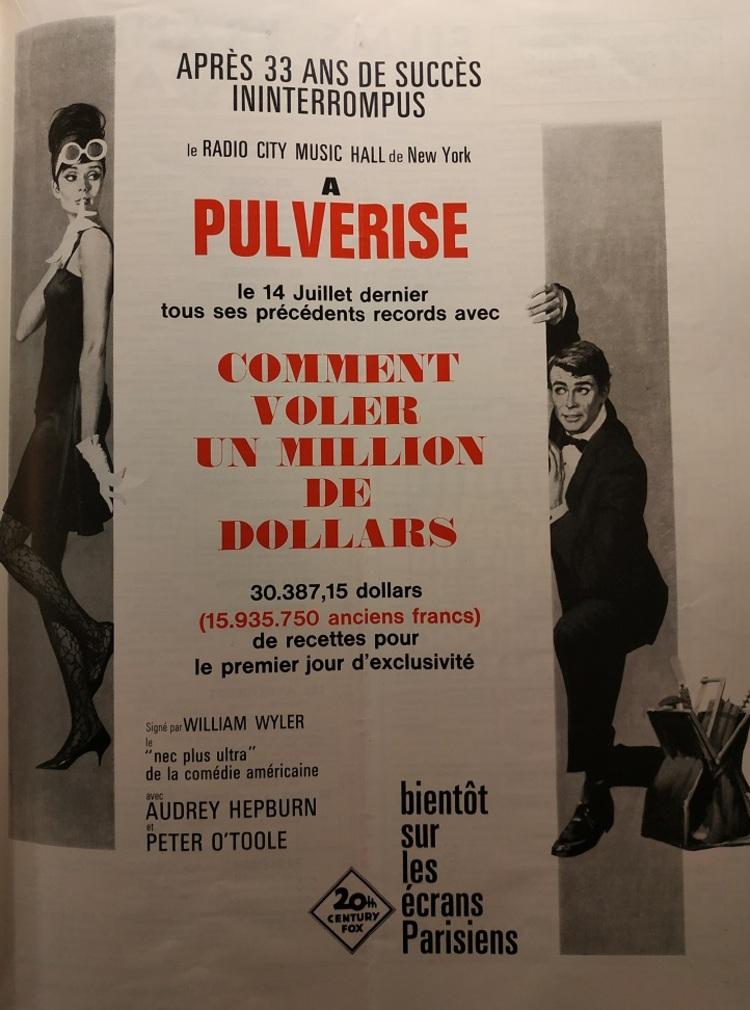BOX OFFICE PARIS DU 6 JUILLET 1966 AU 12 JUILLET 1966
