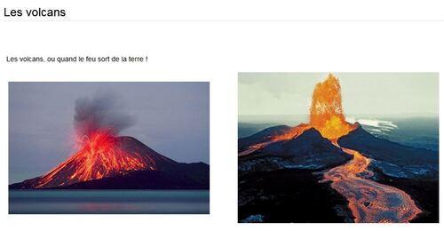 Travail sur les volcans