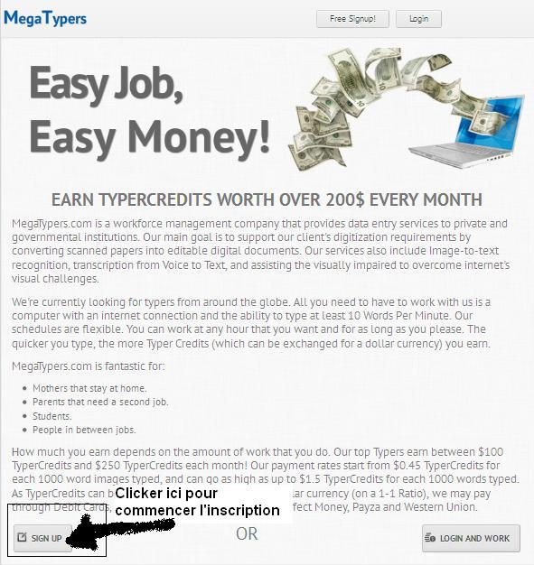 Gagner de l'argent en saisissant des codes CAPUTCHA