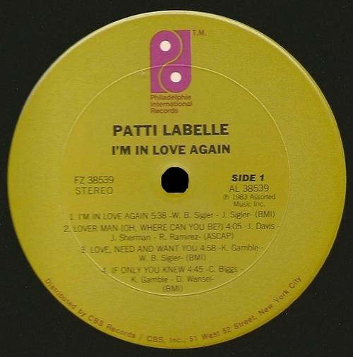"1983 : Patti Labelle : Album "" I'm In Love Again "" Philadelphia International Records FZ 38539 [ US ]"