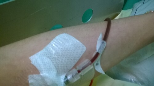 Hospitalisée..