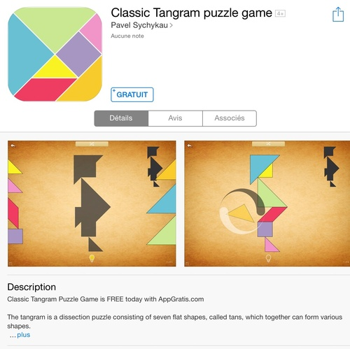 [appli] Classic Tangram puzzle game