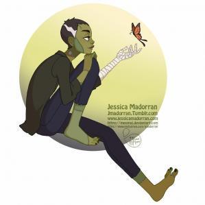 Jessica madorran character design drawlloween frankenstein 2019 artstation