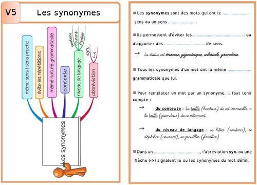 Leçon V5 Les synonymes DYS