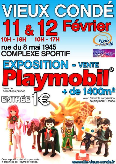 Exposition-vente de Playmobil, à Vieux-Condé