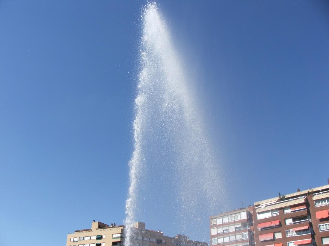 un jet d'eau au Portugal