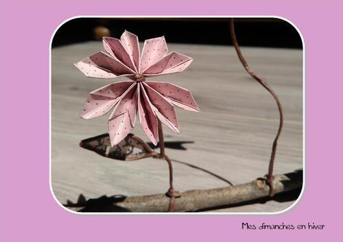 Faire une fleur en papier