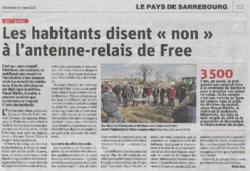 SUITE PROBLEMES D'ANTENNES-RELAIS EN  LORRAINE