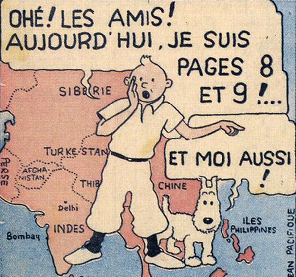 Hergé, couverture du Petit vingtième, 1934.