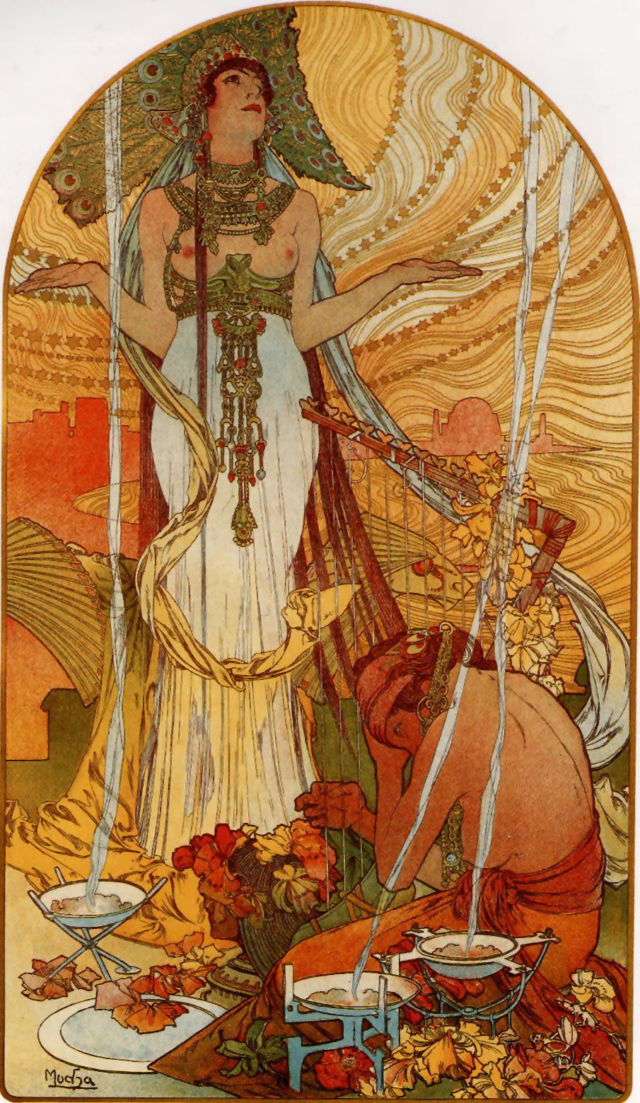 Salammbô, Alfons Mucha, 1896