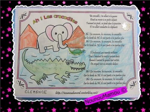 Comptine illustrée : Ah les crocodiles