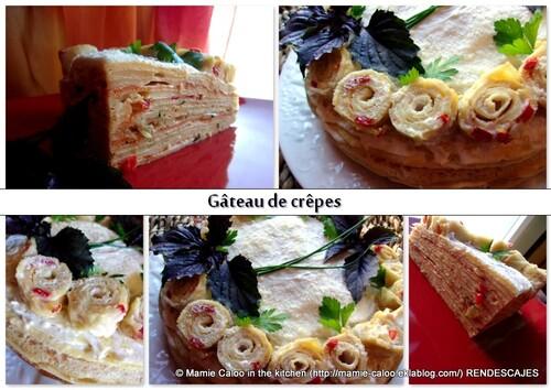 Gâteau de crêpes multi-goût
