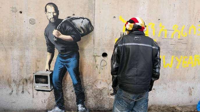 """Résultat de recherche d'images pour """"banksy steve jobs"""""""