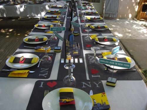 décoration de table new york #4
