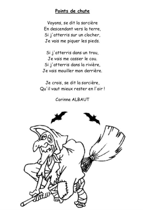 """Poème CP période 2 """"point de chute"""""""