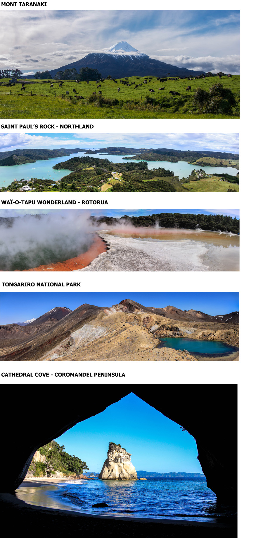 TOP 5 des paysages de l'île du nord ...