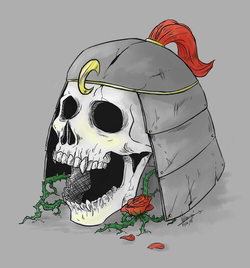 Un crâne samouraï