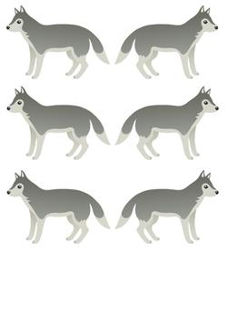 Déco de porte, déco de classe... avec des loups !