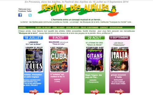 FESTIVAL DES ALPILLES 2014 : 18 JUILLET AU 5 SEPTEMBRE