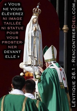 Pape francois idolatrie statue vierge 400PX
