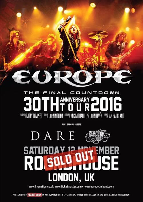 EUROPE : Concert de Londres complet !