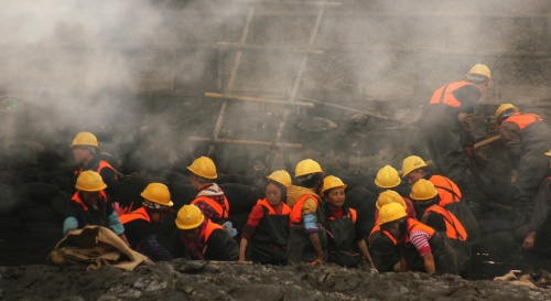 47 photos de la pollution en Chine: brouilard recouvrant le nord et l'est