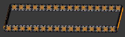 Appuyer sur Alt + S pour dimensionner sur les normals